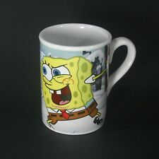 SPONGEBOB & PATRICK COFFEE TEA MUGS CUPS  VIACOM 2007 8.OZ Porcelain