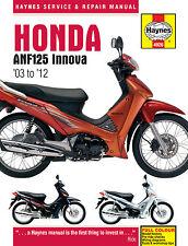 Haynes Manual 4926 - Honda ANF125 Innova Scooter 03-12 Workshop/Service Manual