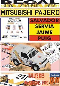 DECAL MITSUBISHI PAJERO SALVADOR SERVIA RALLY PHARAONS 1993 (09)
