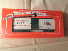 American Flyer 6-48323 1995 Christmas Boxcar / S Gauge