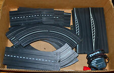 Lot of Slot Car Auto Track Straight Curved  with Tyco Transformer Power Pack