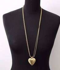 Olia Gold Colour Long Heart Locket Chain Necklace Jewellery Nickel Free