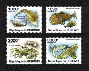 Burundi 2011 Marine Life complete set of 4 values (SW 2042-2045 MNH