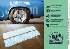 Stickers Autocollant Alpine Renault A110 Berlinette Conforme origine Ailes 1600