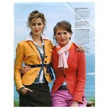 J.CREW Plaid Herringbone Jacket in orange red 0 XS vintage Wool riding blazer