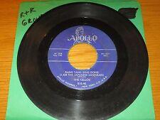 """GROUP DOO-WOP 45 RPM - THE CELLOS - APOLLO 510 - """"RANG TANG DING DONG"""""""