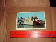 SHOWBOAT RHODODENDRON STEAM TOWBOAT OMAR Museum Clinton Iowa Paddle Dock Board a
