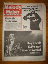 MELODY MAKER 1979 MAR 17 SEX PISTOLS LENE LOVICH PARKER