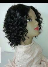 Handmade 100% brazilian deep curly Virgin Human Hair wig..