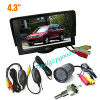 "4,3 ""LCD Monitor Rückansicht Kit + Kabellos 9 IR Nachtsicht Auto Rückfahrkamera"