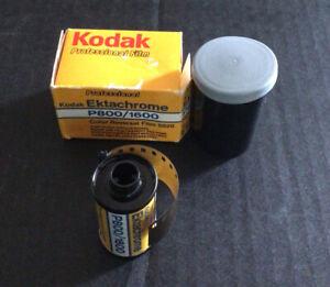 Kodak Ektachrome P800/1600 ISO 135-36 Color film expired 1986