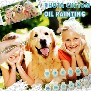 DIY Custom Photo Personalized Gift Painting by number Oil Painting Family Kid