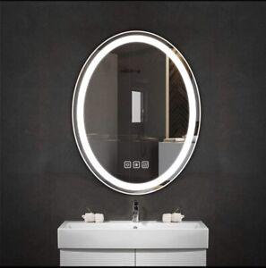 24 x 28 Inch Oval LED Lighted Bathroom Mirror,