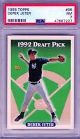 "1993 Topps #98 "" Derek Jeter""  RC @@50/50@@ PSA 7 {HOF 2020 99.7%} ""The Captain"""