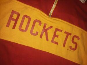HOUSTON ROCKETS NBA HARDWOOD CLASSICS MEN 1/4 RETRO VTG SHIRT JERSEY CLR 2XL 4XL