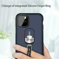 For iPhone 11 Pro Max XR Magnetic Finger Ring Holder Cover Stand Case Hard K2X2