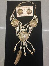 Mary & Doug Hancock – The Mummy's Bundle – Necklace and Earrings, Bronze Feather