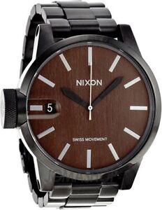 NIXON - Chronicle SS - Watch - Dark Wood/Black - Deadstock - Vintage