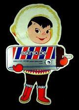 """ESKIMO PIE"" DECAL / STICKER ICE CREAM Advertisement vintage retro"