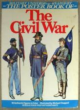 MILITARY UNIFORMS & WEAPONRY ~ POSTERBOOK OF ~ CIVIL WAR ~ 90 FIGURES IN COLOR
