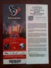 VERY RARE 2002 Inaugural Texans vs Dallas Cowboys  Actual Ticket Laminated!!!