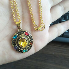 Infinity Stones Necklace Pendant Chain For Avengers Thanos Cosplay Gift