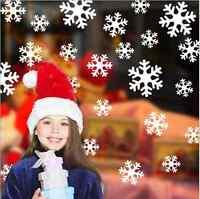 27 x Christmas Xmas Window Sticker Decorations Snowflake With Glitter