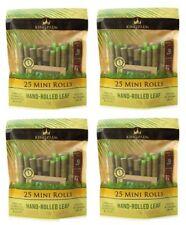 4x King Palm Wraps Mini Size 25 ct 100% Tobacco Free Leaf Rolls Corn Husk Filter