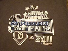 DETROIT TIGERS DIVISION CHAMPIONS 2011 COMERICA MAJESTIC ALDS BASEBALL 2XL SHIRT