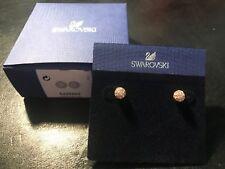 NEW Swarovski white crystal Rose Gold Stud Earrings