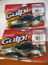 "2 Packs Berkley Gulp Scented Fishing Baits 4"" Ripple Shad / Black GRS4-BL"