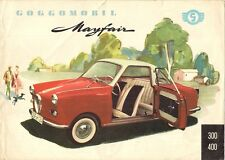 Glas GOGGOMOBIL Mayfair COUPE 1959-62 UK Mercato PIEGA BROCHURE TS 300 400