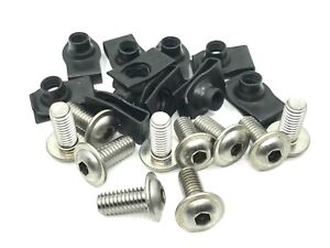"""For Ford fender under hood bolts & short """"U"""" nuts 5/16-18 x 3/4 stainless Button"""