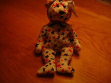 TY RETIRED BEANIE BEARS    USA   BEAR  RED WHITE AND BLUE