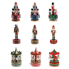 1/4/5/6pcs Wooden Handpainted Christmas Nutcracker Walnut Puppet Xmas Decor Gift