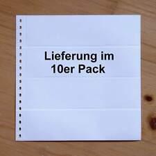 LINDNER Omnia Einsteckblatt 012 weiß 4 Streifen - 10er-Packung