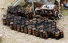 over 70 Oil Drums in 2 Super Piles for fast BULK detailing HO Scale Painted