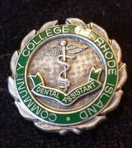 NURSING SCHOOL PIN Community College Rhode Island Dental Assistant Sterling Slvr