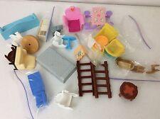 Plastic Dollhouse Furniture Plasco, Blue-Box, Hasbro Etc.