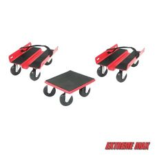 Extreme Max 5800.2000 Economy Snowmobile Dolly - Red Steel (3pc set)