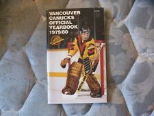 1979-80 VANCOUVER CANUCKS MEDIA GUIDE YEARBOOK 1980 NHL Hockey Program Book AD