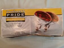 Producer's Pride 2 PK 120V E26 250W Red Heat Bulbs NEW