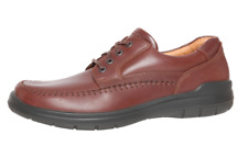 ECCO Men's Brown Leather Lace up Sneakers 2188 Size 43