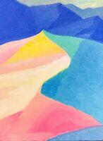 White Sands National Park Cubist Fauvist Southwest Landscape Art Oil Painting