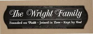 Family Name Plaque / Sign / Wooden / Wall Decor