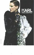 PUBLICITE ADVERTISING 2012   KARL LAGERFELD collection hiver 2012