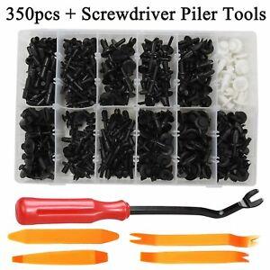 350Pcs Car Push Retainer Pin Rivet Trim Clip Panel Moulding Assortments & Tool
