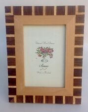 "Natural Wood Frame by Sienna 3.5""X5"" Photo Tabletop or Wall Mount"