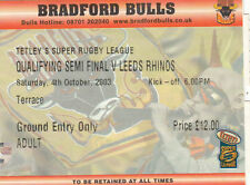 Leeds Rhinos Rugby League Tickets & Stubs