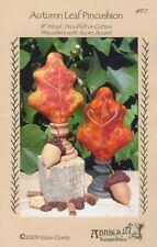Autumn Leaf Pincushion + Pin Kit and Wood Base - Pattern by Vickie Clontz